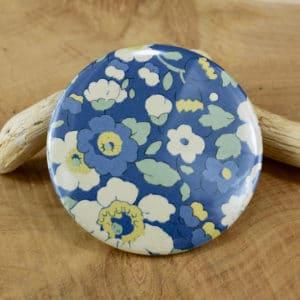 Miroir en Liberty Betsy Japonais fond bleu