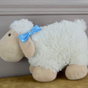 Barrette croco en coton imprimé Etoiles blanches sur fond bleu