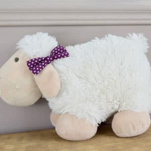 Barrette croco en coton imprimé Etoiles blanches sur fond violet