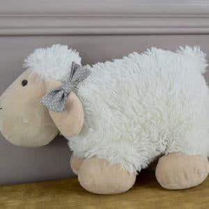 Barrette croco en coton imprimé pois blancs sur fond gris
