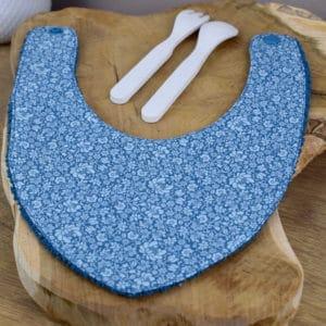Bavoir Bandana en Tilda Sigrid blue, éponge bleu