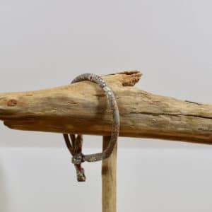 Bracelet Jonc en Frou Frou Gris
