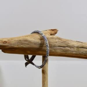 Bracelet Jonc en Frou Frou rose Mirtille