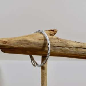 Bracelet Jonc en Liberty Adelajda Brun