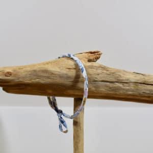 Bracelet Jonc en Liberty Betsy Bleu Denim