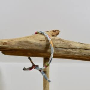 Bracelet Jonc en Liberty Betsy Porcelaine