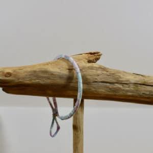 Bracelet Jonc en Liberty Betsy Vert Celadon