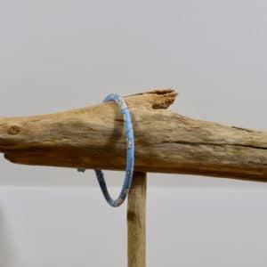 Bracelet Jonc en Liberty Capel Bleu