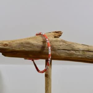Bracelet Jonc en Liberty Capel Orange