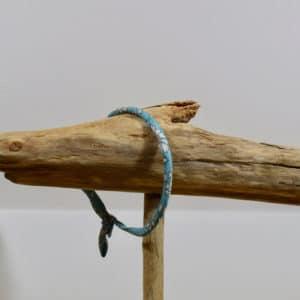 Bracelet Jonc en Liberty Capel Sea Green