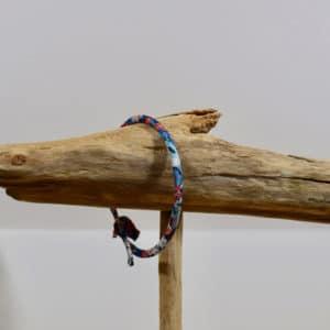 Bracelet Jonc en Liberty Thorpe Hill Orange Bleue