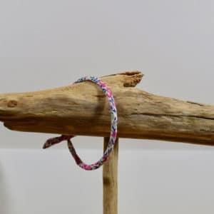 Bracelet Jonc en Liberty Wiltshire Bud Bougainvillée