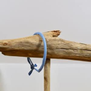 Bracelet Jonc en coton uni bleu