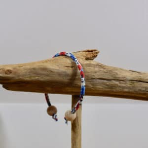 Bracelet jonc et perles en bois en Liberty Wiltshire Marianne