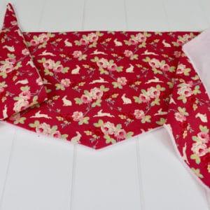 Chèche Hiver enfant en Tilda Rabbit & Roses Pink, Minky rose