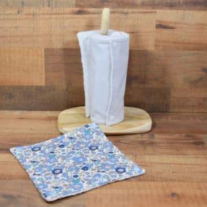 Essuie-tout en Liberty Betsy Centaurée, éponge blanche