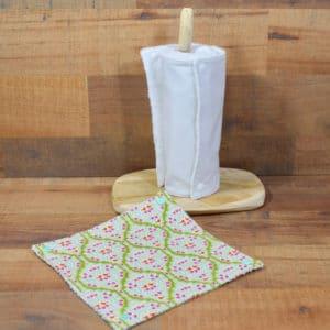 Essuie-tout en Tilda Lemonade Green, éponge blanche