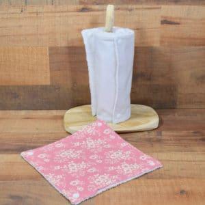 Essuie-tout en Tilda Libby Pink, éponge blanche