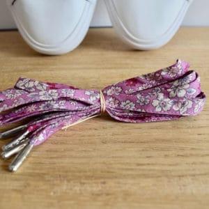 Lacet 120 cm en Frou Frou rose Prune