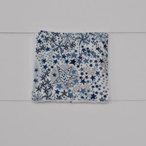 Lingette éponge blanche en Liberty Adelajda Bleu