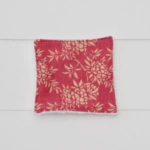 Lingette éponge blanche en Tilda Flower Bush Pink