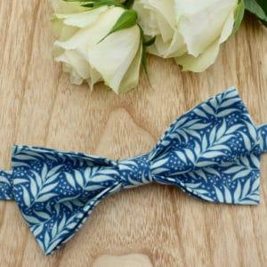 Noeud Papillon en Tilda Berry Leaf Blue