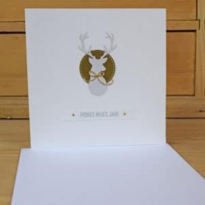 Carte de Voeux Cerf en allemand
