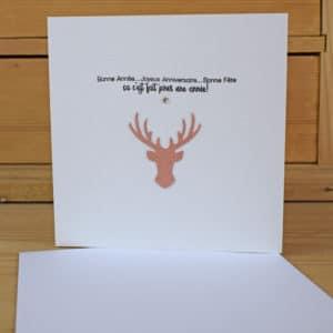 Carte de Voeux Cerf pour toute l'année