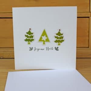 Carte de Voeux Sapins verts