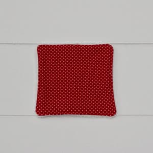 Lingette bambou en Tilda Mini Spot Red