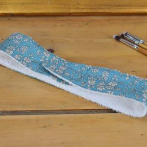 Bandeau en Liberty Capel Bleu Vert N20