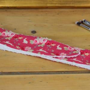 Bandeau en Tilda Rabbit & Roses Pink