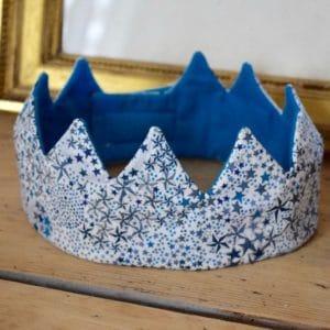 Couronne en Liberty Adelajda Bleu turquoise