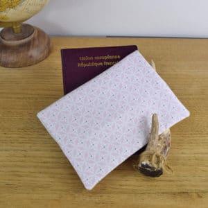 Etui à passeport en Gutermann étoiles blanches