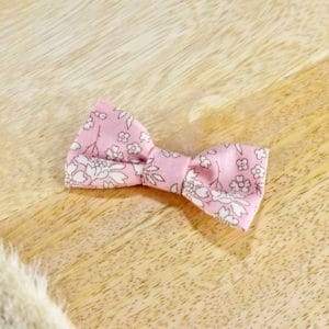 Mini barrette croco en Liberty Capel Rose Nude S